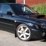 Vacker Subaru som jag och Henka rekondat